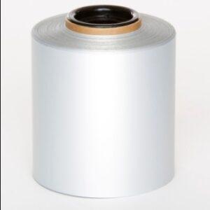 Matt Silver Polyester 100mm x 25mm