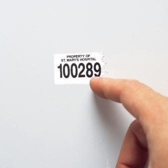 White Destructable Polyester Labels