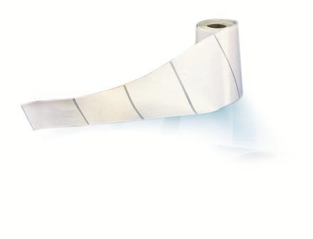 Matt White Polyester 25mm x 15mm