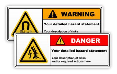 Warning / danger signs 1 symbol