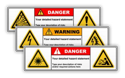 Warning / danger signs 2 symbols