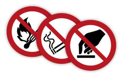 Prohibition symbols