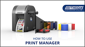 How to use print manager