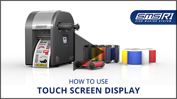 How to use touch screen display